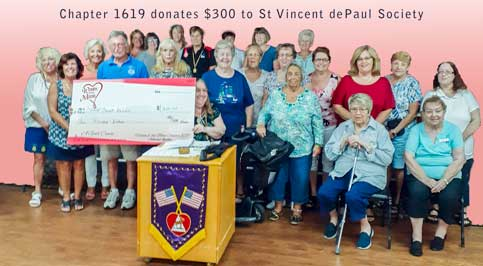WOTM donation to ST.Vincent dePaul