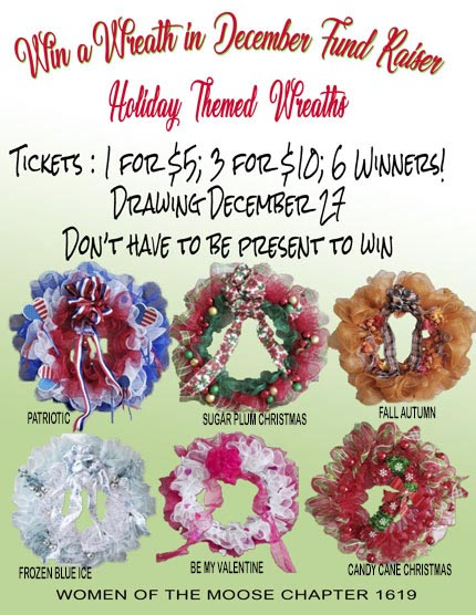 WOTM Holiday Wreaths fundraiser